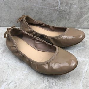Cole Haan patent leather nude flats, 7.5